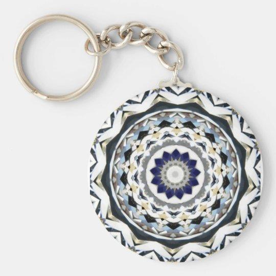 Diamond Kaleidoscope Basic Round Button Key Ring