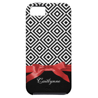 Diamond Lady Black White and Red iPhone 5 Case