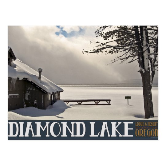 Diamond Lake Winter Marina - No Text Postcard