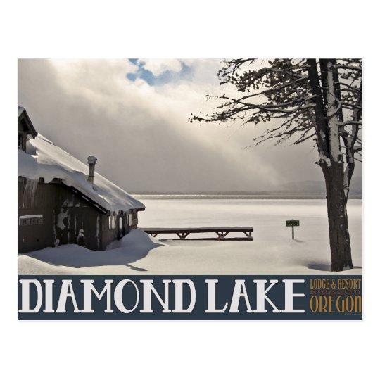 Diamond Lake Winter Marina - No Text Postcard