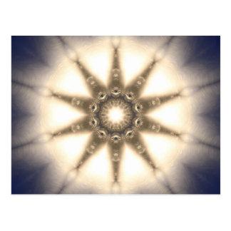Diamond Light Mandala Postcard