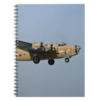 Diamond Lil B-24 Bomber, landing at Oshkosh, Note Books