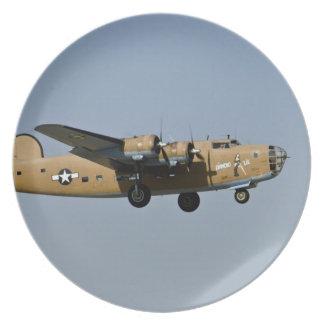 Diamond Lil B-24 Bomber, landing at Oshkosh, Plate