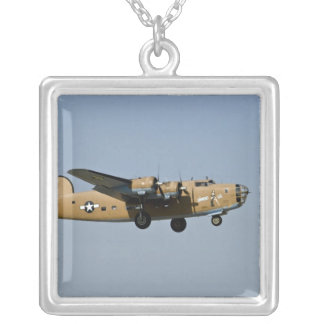 Diamond Lil B-24 Bomber, landing at Oshkosh, Silver Plated Necklace
