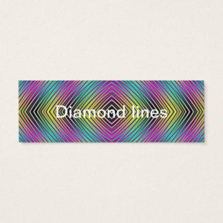 Diamond lines Business Card