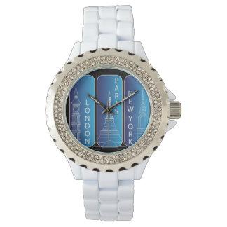 "Diamond ""Look"" New York, London, Paris Ladies Watch"