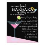 Diamond Martini Custom Invites