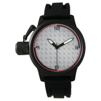 Diamond Metal Plate Watch