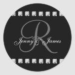 Diamond Monogram R Wedding Favour Stickers