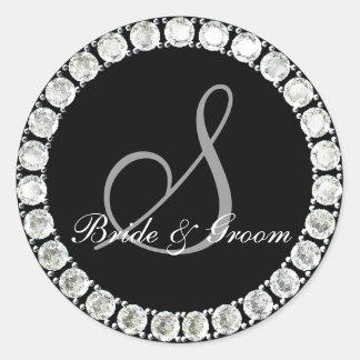 Diamond monogram S customizable seal