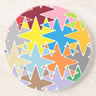 Diamond Multicolor Paper Craft Patterns Coasters