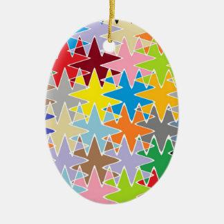 Diamond Multicolor Paper Craft Patterns Christmas Tree Ornament