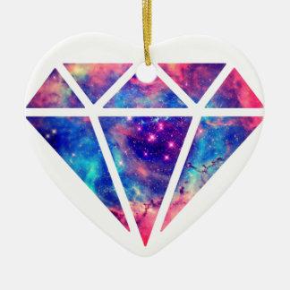 Diamond Nebula Design Ceramic Heart Decoration