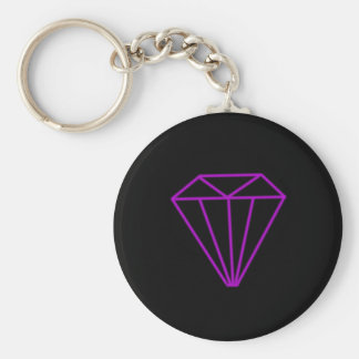 Diamond outline key ring
