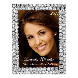 Diamond Pageant Headshot   Autograph Card Postcard