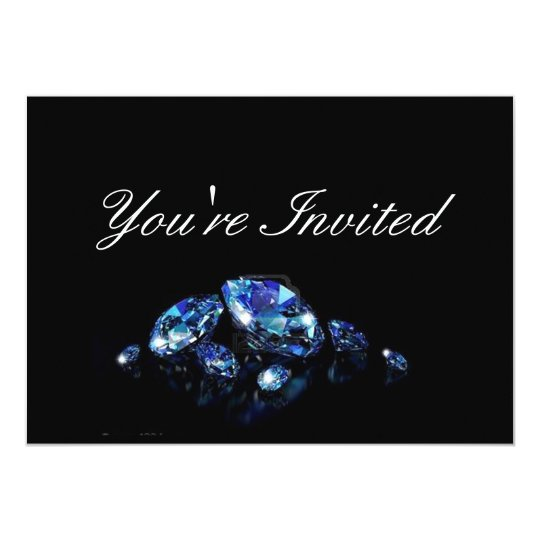 Diamond party invitation