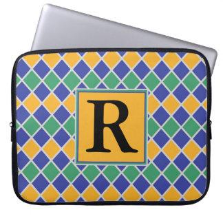 Diamond Pattern #82 Monogrammed Laptop Computer Sleeve