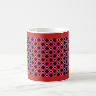 Diamond Pattern #94 Red Coffee Mug