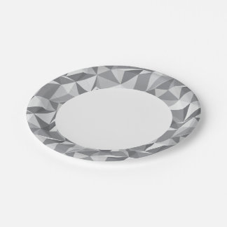 Diamond Pattern - Abstract Polygon 7 Inch Paper Plate
