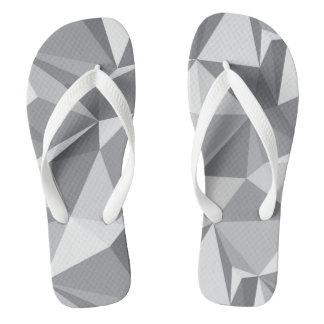 Diamond Pattern - Abstract Polygon Flip Flops