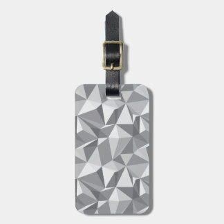 Diamond Pattern - Abstract Polygon Luggage Tag