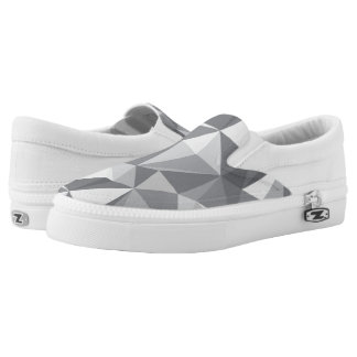 Diamond Pattern - Abstract Polygon Slip-On Shoes