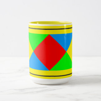 Diamond Pattern - Can Change Background Color Two-Tone Mug