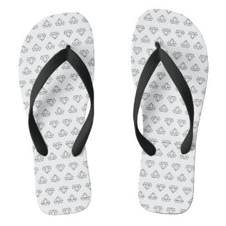 Diamond Pattern Flip Flops