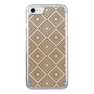 Diamond Pattern Grey and White Carved iPhone 8/7 Case