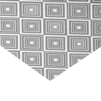 Diamond Pattern Grey and White Tissue Paper