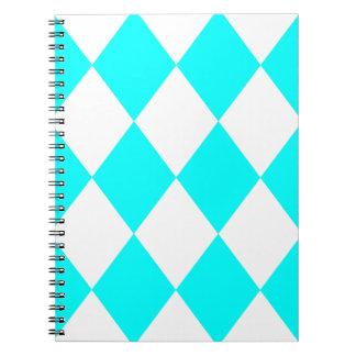 DIAMOND PATTERN in Aqua ~ Notebooks