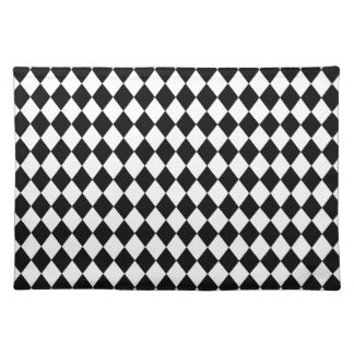 DIAMOND PATTERN in BLACK ~ Placemat