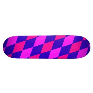 DIAMOND PATTERN in Blue & purples ~ Skate Board Deck