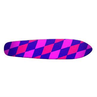 DIAMOND PATTERN in Blue & purples ~ 20.6 Cm Skateboard Deck