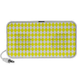 DIAMOND PATTERN in Bright Yellow ~ iPod Speakers