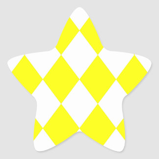 DIAMOND PATTERN in Bright Yellow Star Sticker