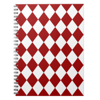 DIAMOND PATTERN in DEEP RED ~ Notebook