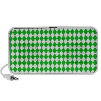 DIAMOND PATTERN in GREEN GREEN ~ Portable Speaker