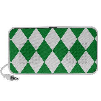 DIAMOND PATTERN in Green ~ Speaker System