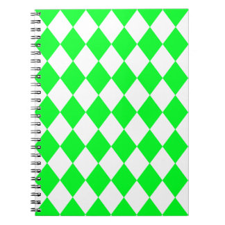 DIAMOND PATTERN in Light Green ~ Spiral Notebook
