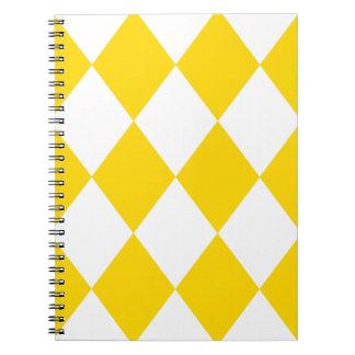 DIAMOND PATTERN in Yellow (banana yellow) ~ Spiral Notebook