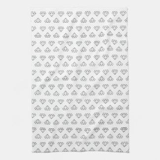 Diamond Pattern Kitchen Towel