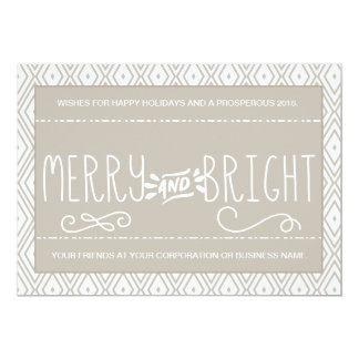 Diamond Pattern Merry and Bright Corporate Card 13 Cm X 18 Cm Invitation Card
