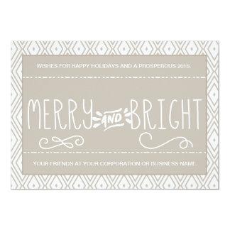Diamond Pattern Merry and Bright Corporate Card 13 Cm X 18 Cm Invitation Card