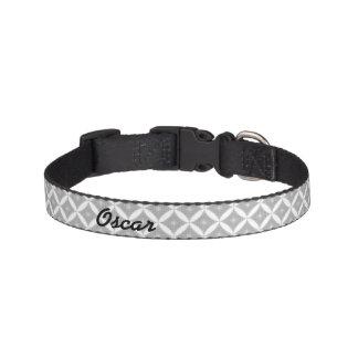 Diamond Pattern & Name Pet Collar