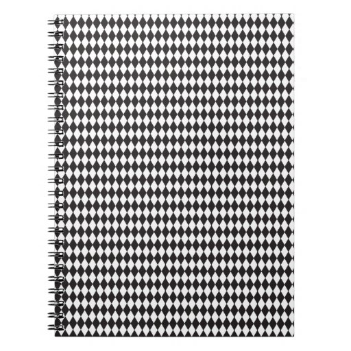 Diamond Pattern Spiral Note Book