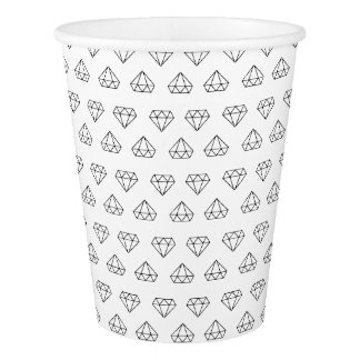 Diamond Pattern Paper Cups
