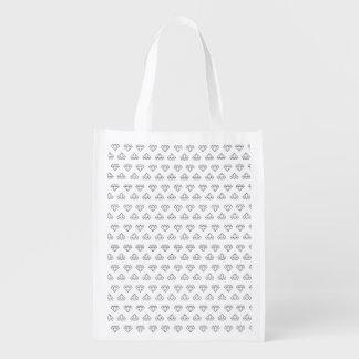 Diamond Pattern Reusable Bag