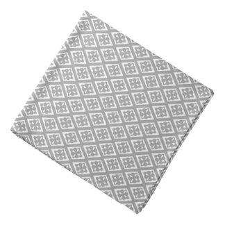 Diamond pattern - silver grey and white bandana