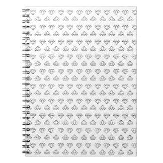 Diamond Pattern Spiral Notebook